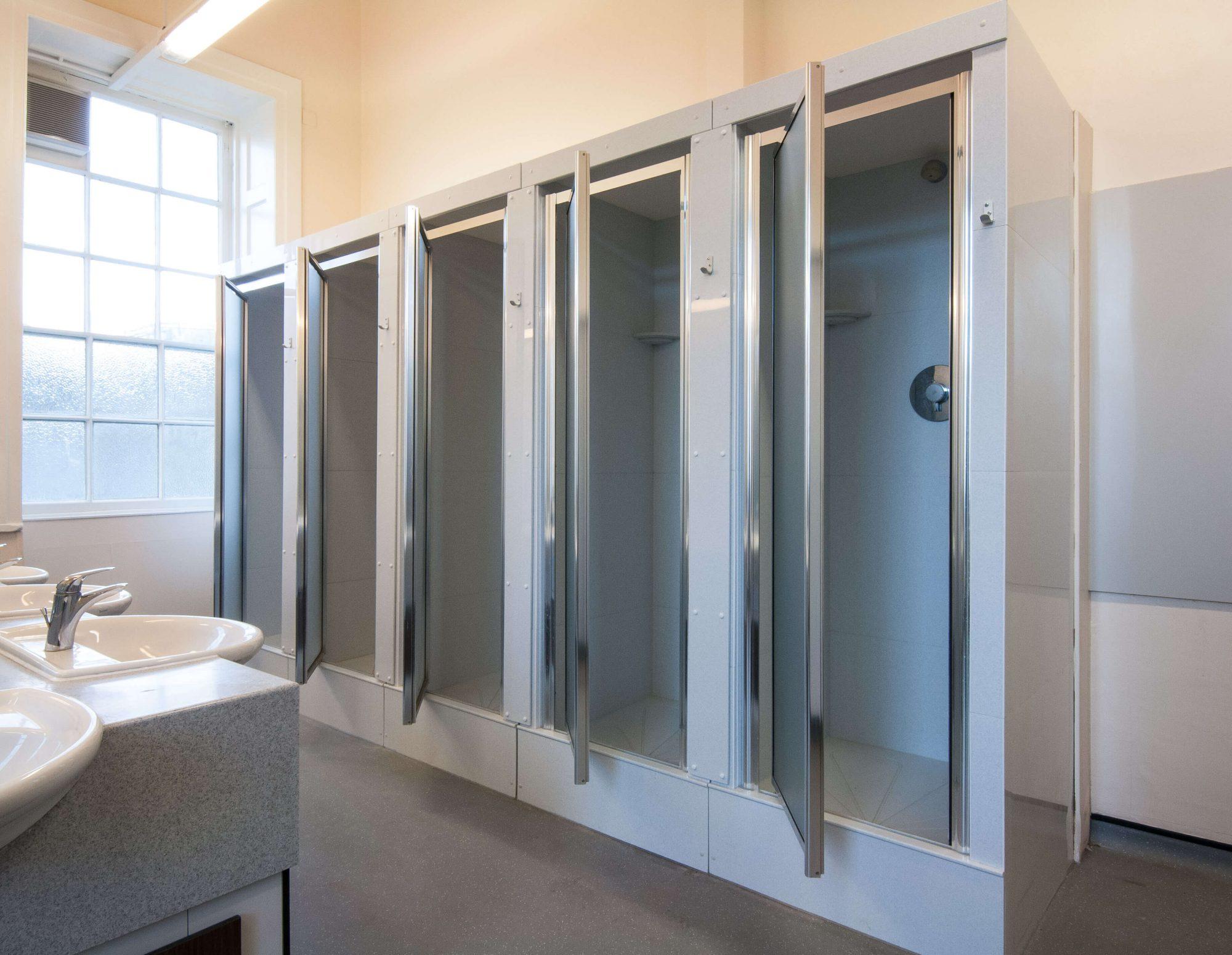 Stowe School washroom showers
