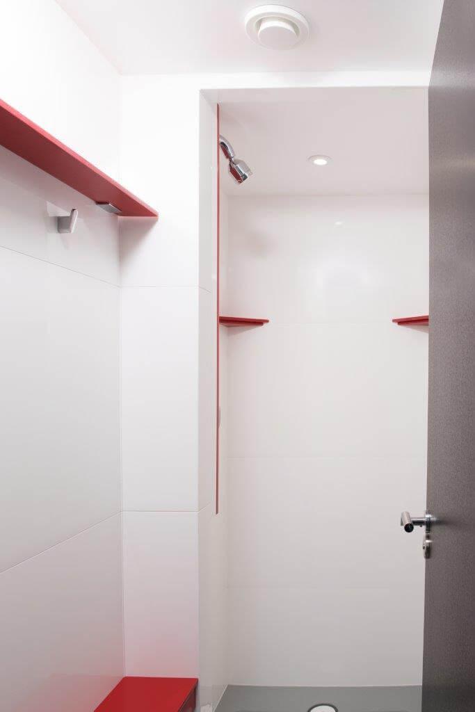Front Entry Shower Pod Interior