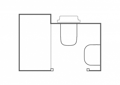 Bathroom pad layout