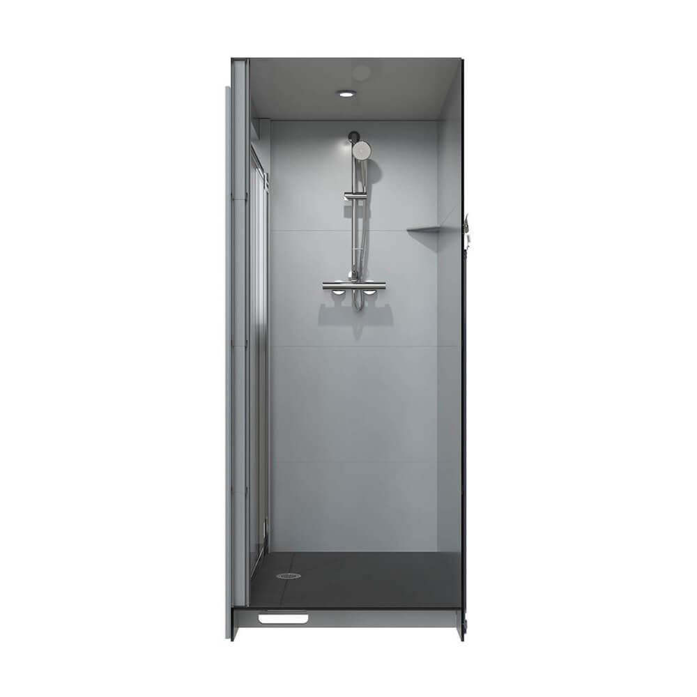 small space prima sideview shower