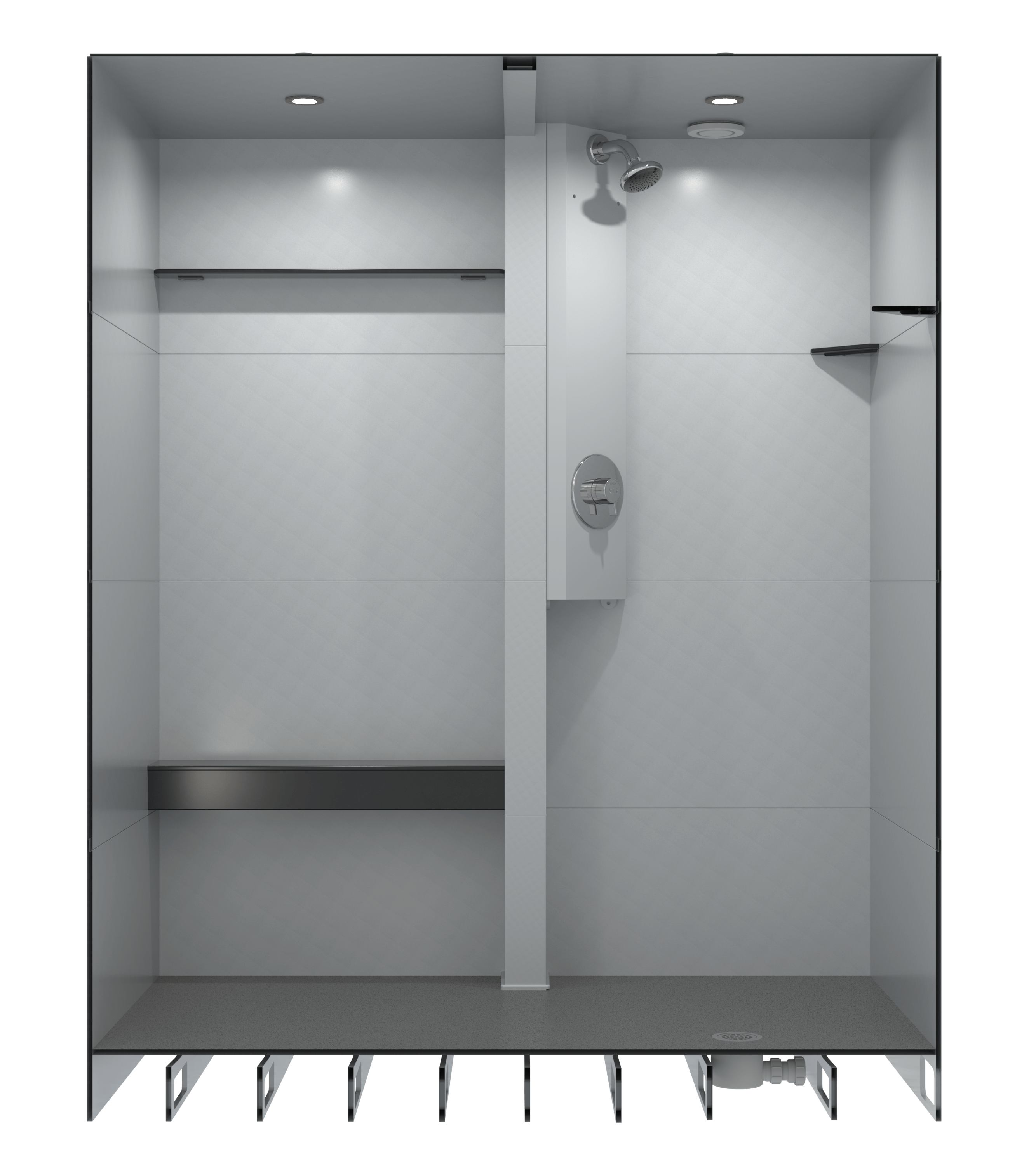shower bathroom sleek design